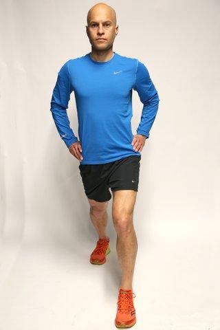 Hip flexor stretch starting position
