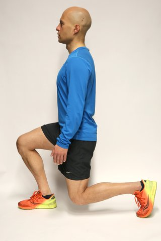 Lunge lowered position
