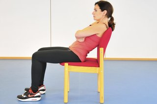 Picture of a woman slouching in a chair