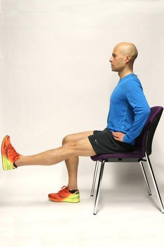 Straight leg raises starting position