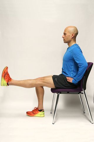 Straight leg raises fully raised leg position