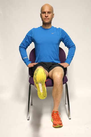 Thigh contraction starting position