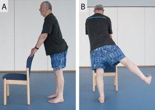 Picture of a man doing a sideways leg lift