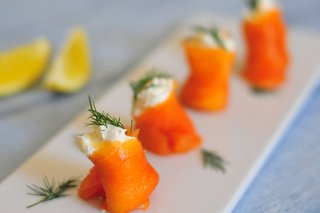 Smoked salmon and cream cheese parcels