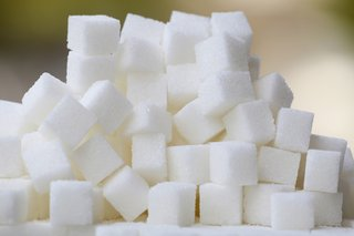 A pile of sugar cubes