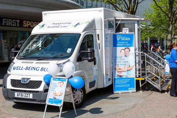 Mobile health check unit