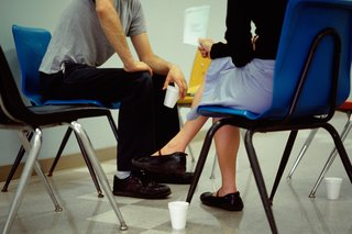 Picture of a counsellor and patient in conversation