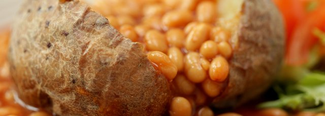 Picture of baked potato and beans