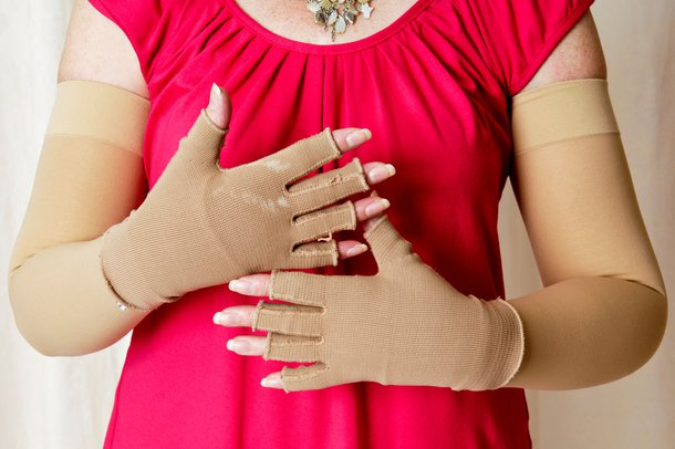 Picture of compression bandages for lymphoedema