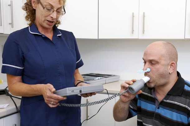 Picture of a spirometry test