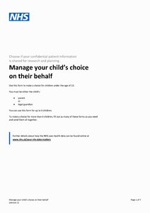 Download manage your child's choice on their behalf form