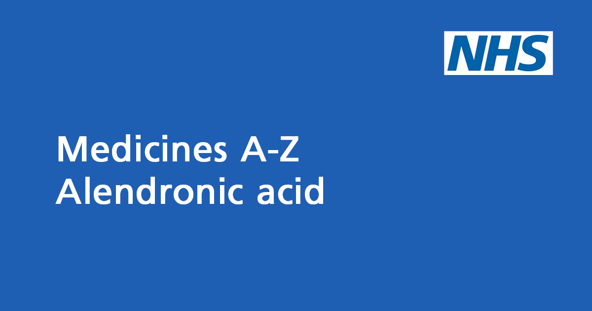 Alendronic acid: medicine to treat and prevent osteoporosis