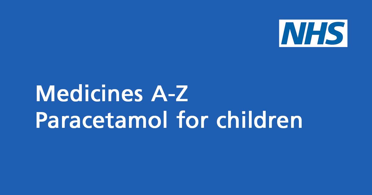 Paracetamol for children (including Calpol): painkiller for