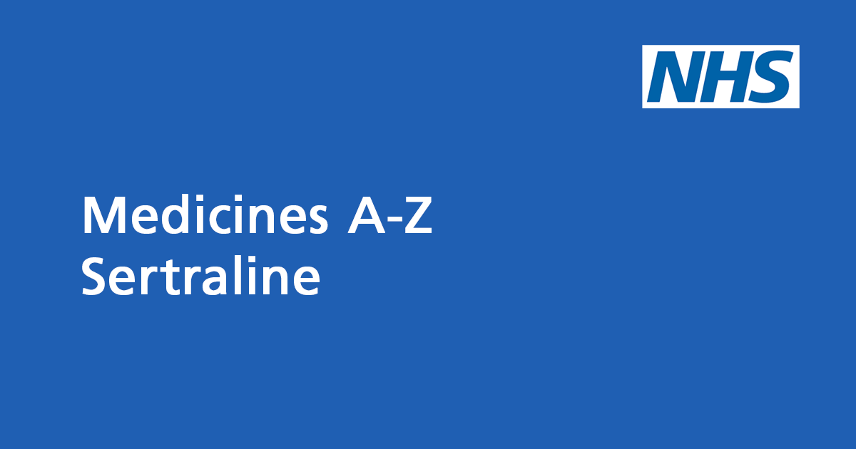 Sertraline: an antidepressant - NHS