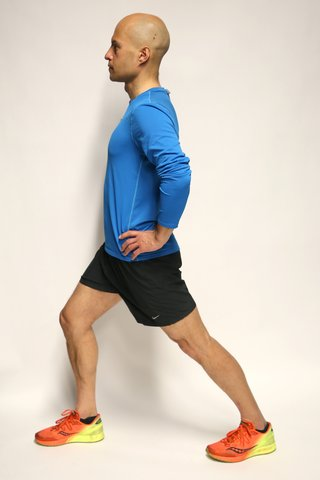 Calf stretch side view