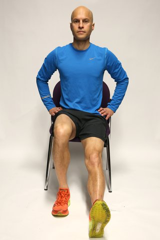 Hamstring stretch starting position