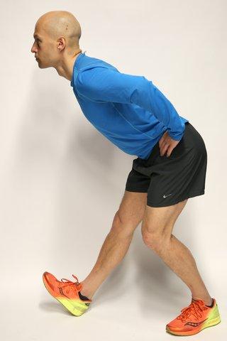 Hamstring stretch side view