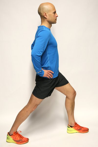 Hip flexor stretch side view