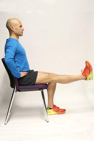 Thigh contraction leg raised