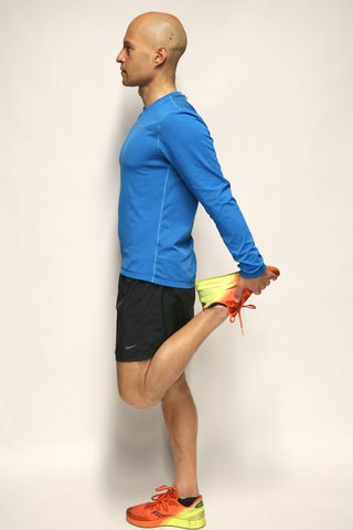 Thigh stretch side view