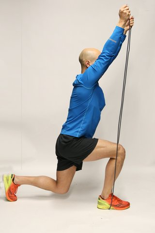 Shoulder press with lunge