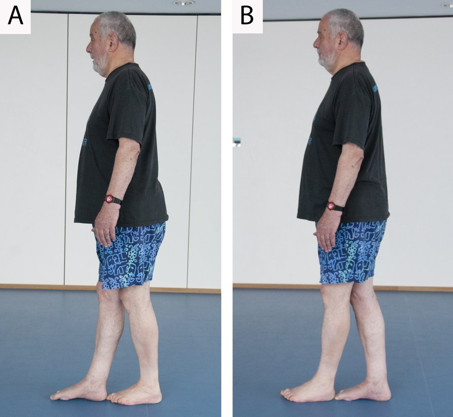 Picture of a man doing a heel-to-toe walk