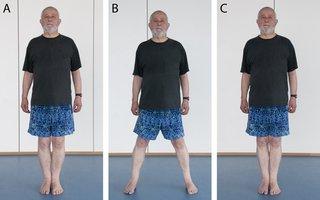 Picture of a man walking sideways