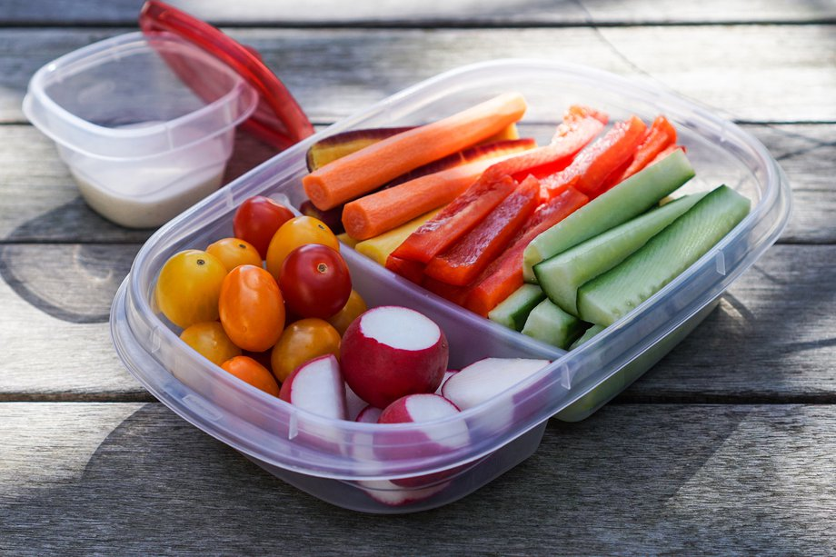 Picture of a healthy lunch box