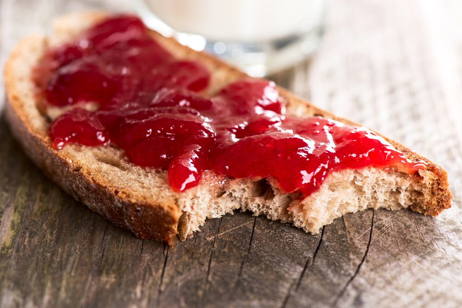 Picture of jam on bread